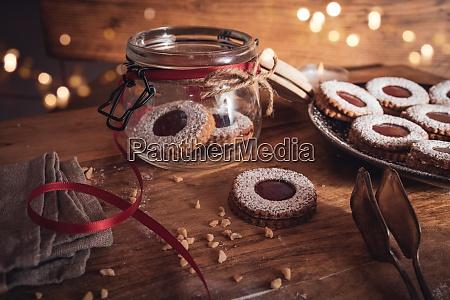 boze narodzenie martwa natura z ciasteczkami