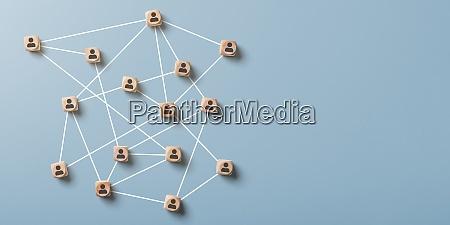 abstrakcyjna siec spolecznosciowa z przestrzenia kopiowania