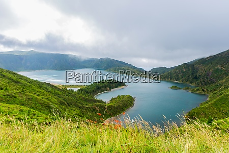 widok na lagoa do fogo
