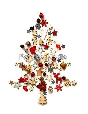 choinka dekoracja i ornament izolowane tlo