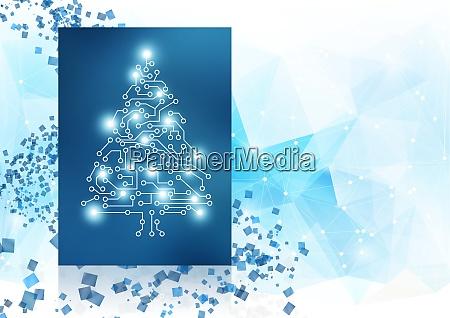 koncepcja projektowania zimowego tla z drzewem