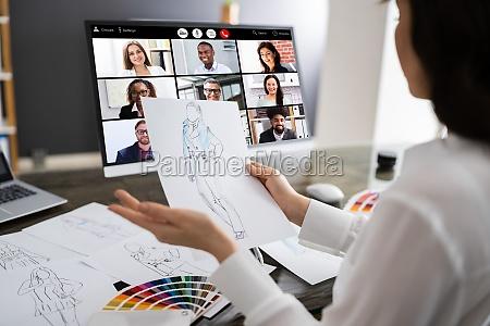 fashion designer online video conference call
