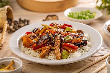 azjatyckie menu kulinarne