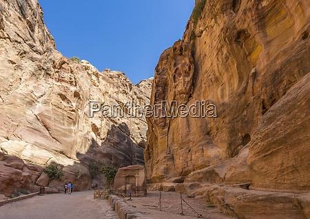 jordania petra wejscie do siq