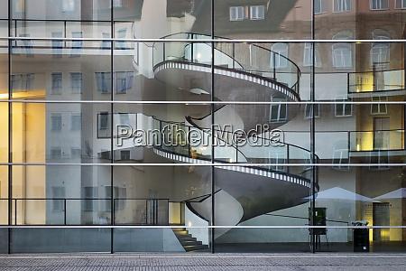 germany nuremberg glass facade of neues