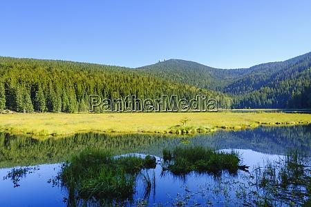 malowniczy widok na jezioro kleiner arbersee