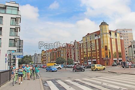 modern architecture in gdansk crossroads on