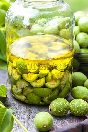 still, life, of, walnut, liqueur - 29618807