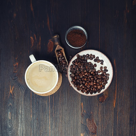 martwa natura z kawa