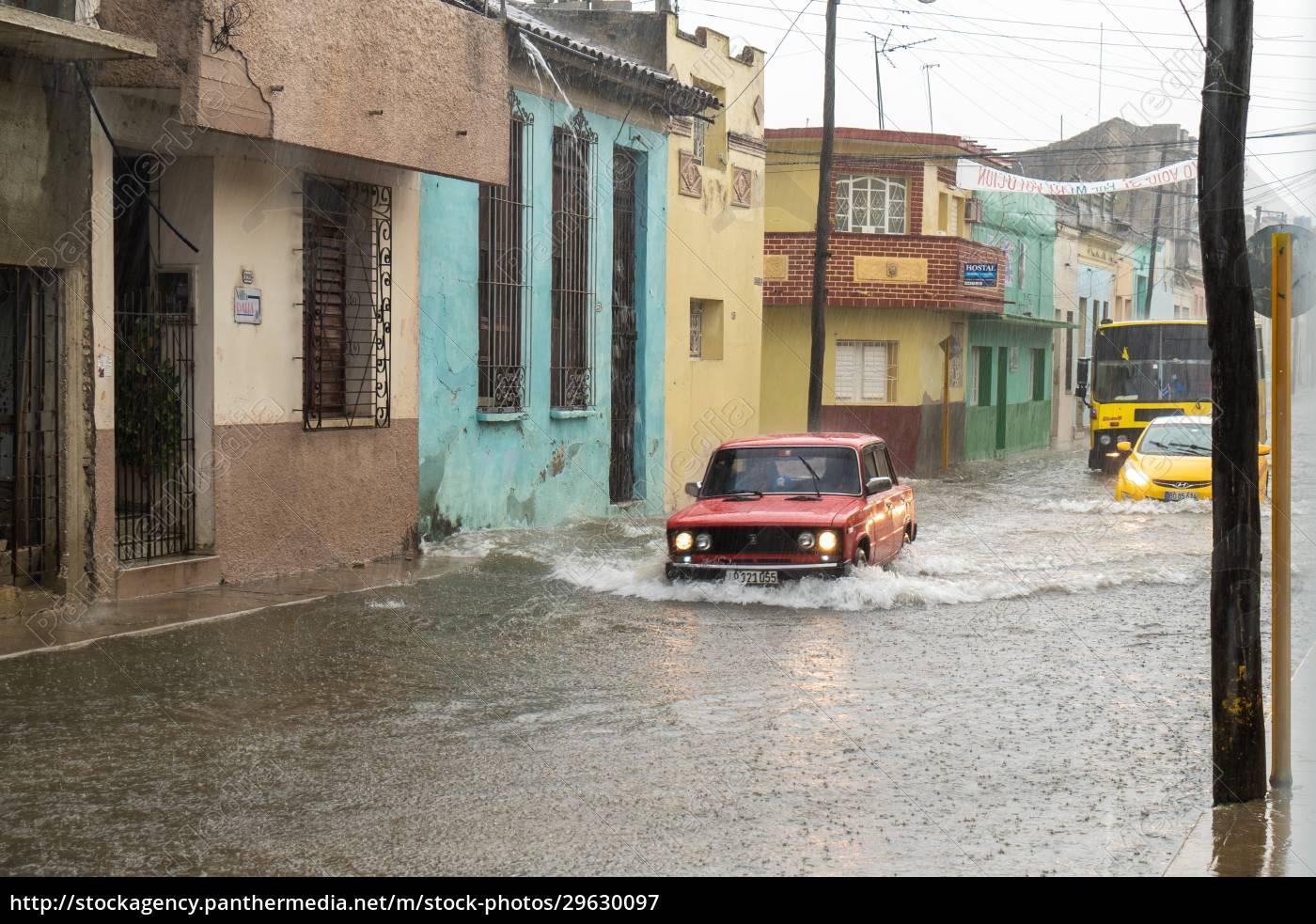 street, flooded, by, rainwater - 29630097