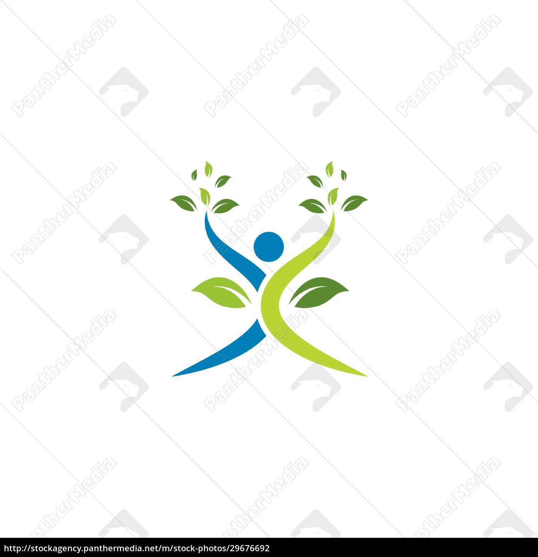 ludzie, zdrowego, życia, wektor, szablonu, logo - 29676692