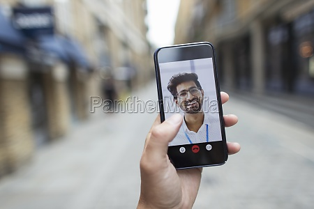 pov, biznesmeni, wideokonferencje, na, ekranie, smartfona - 29678092