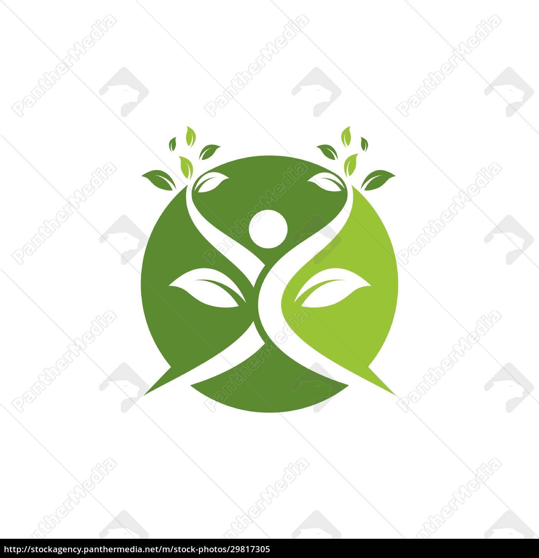ludzie, zdrowego, życia, wektor, szablonu, logo - 29817305