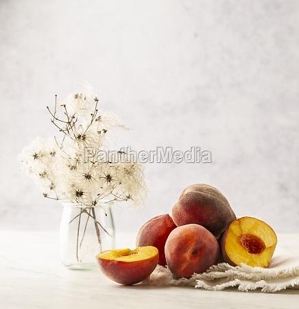 brzoskwinie, martwa, natura - 29896205