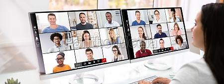 wirtualne wideokonferencji spotkanie biznesowe