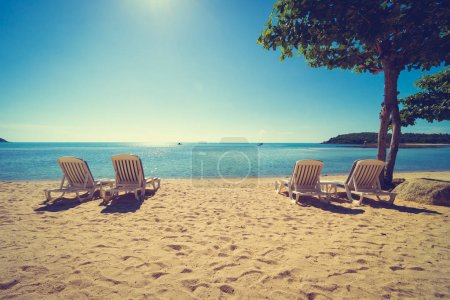 niebieski chairs niebo piekne wakacje podroz