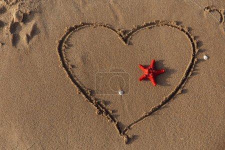 czerwony, tło, Nikt., znak, Miłość., Podróże - B373012392