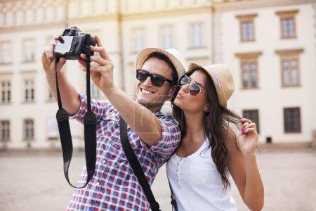 skupienie, fotografia, Szczęśliwy., Urlop, sprzęt, gospodarstwo - B28680923