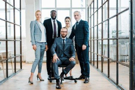Grupa, Piękna., Szczęśliwy., biznes, Siedzenie, dorosły - B256806348