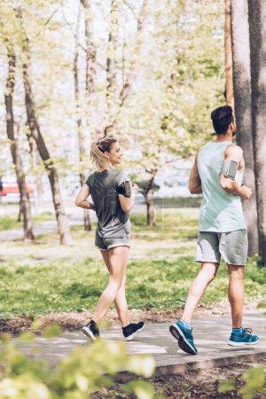 sportowe, zielony, działalność, Piękna., światło słoneczne, parkowych - B271205868