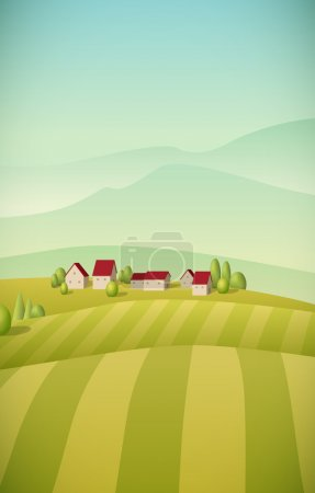 zielony, wektor, tło, ilustracja, niebo, sezon - B52817863