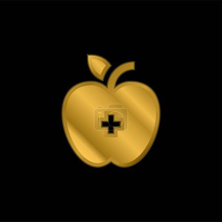 wektor, Metalowe, złoto, Miłość, Zdrowie, Jabłko - B470790444